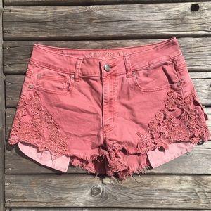 💥5/$25 AEO Hi-Rise Festival Jean Shorts